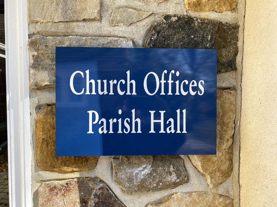 Church Office Parish Hall closeup