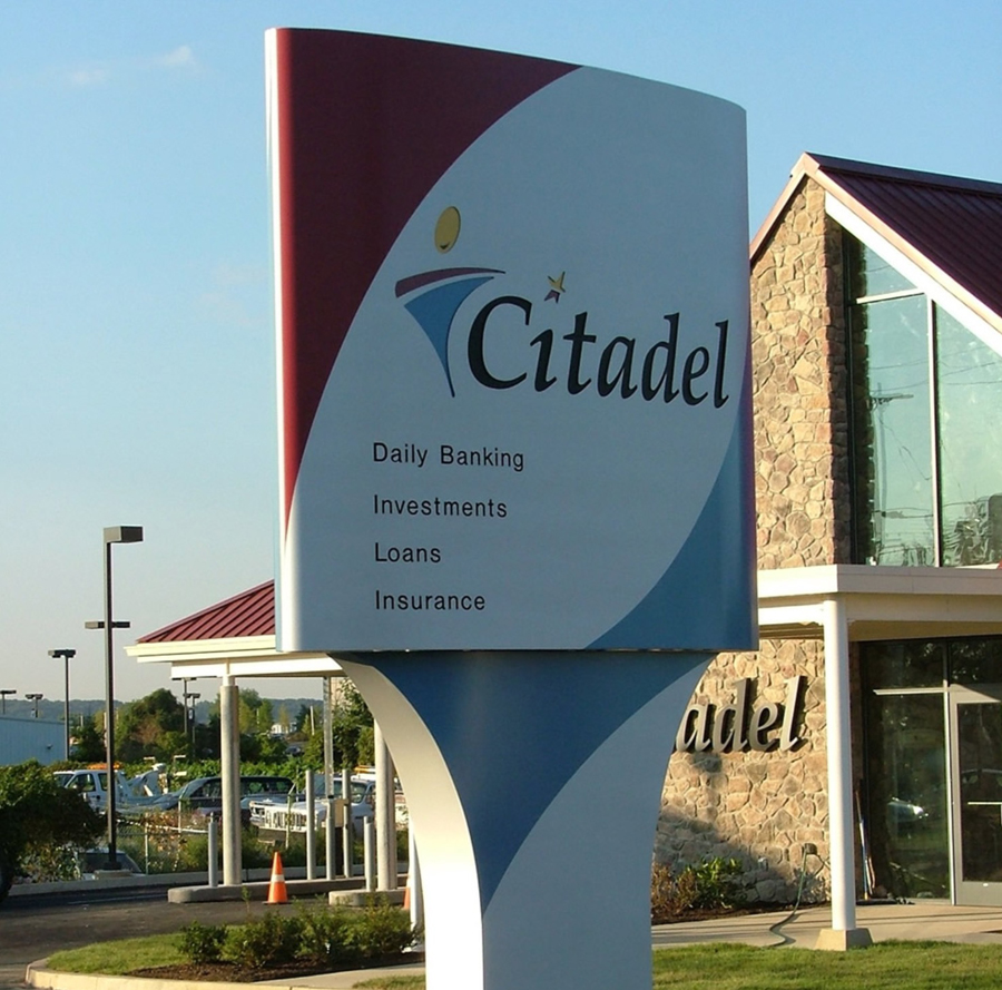 Citadel pylon Sign Studios