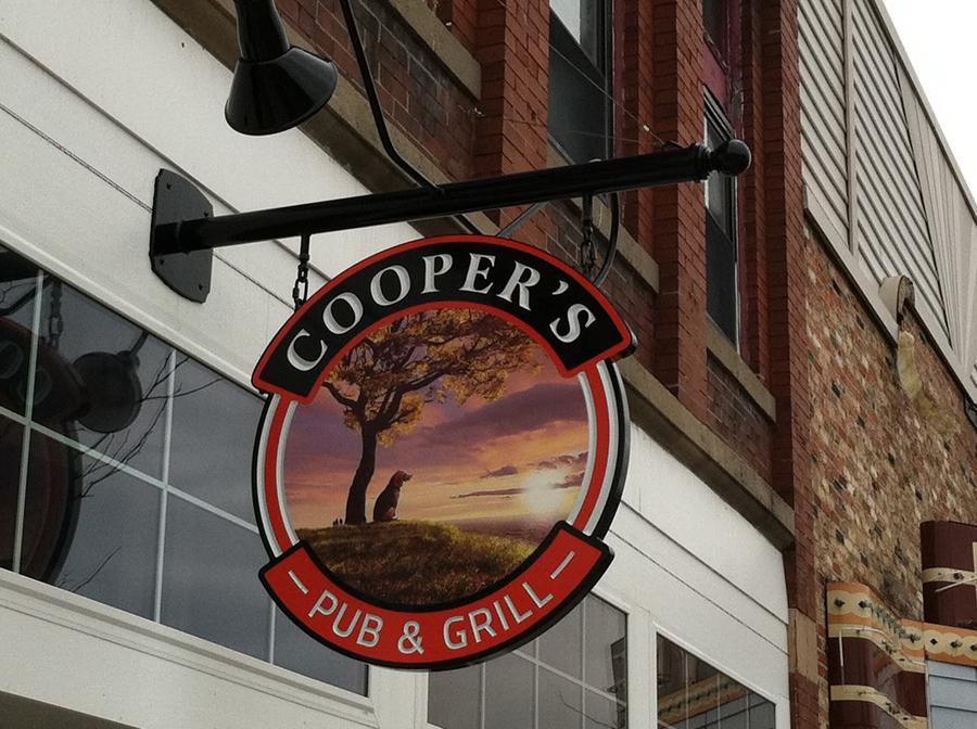 Cooper's hanging Sign Studios