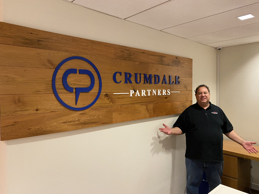 Crumdale small wall angled Sign Studios