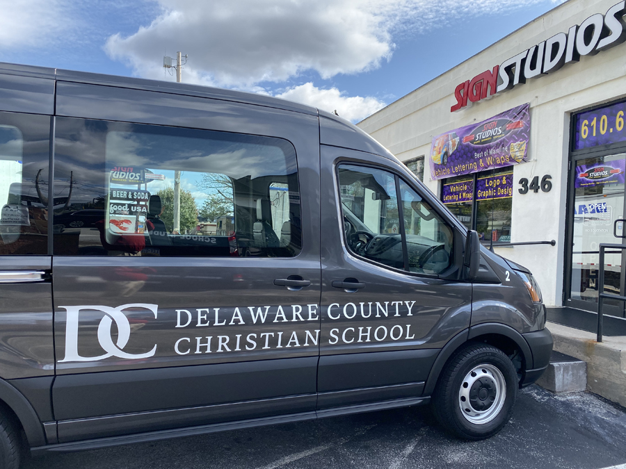 Delaware County Christian School Vehicle Lettering Sign Studios