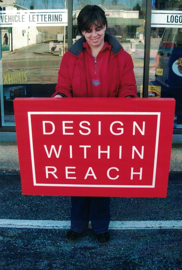 Design within Reach retail Sign Studios