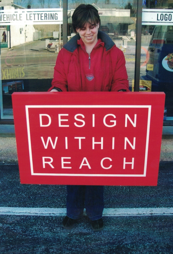 Design within reach redwood Sign Studios
