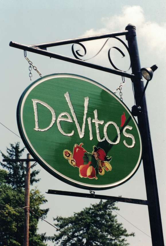 Devito's closeup redwood Sign Studios