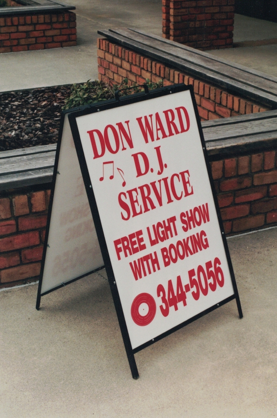 Don Ward DJ a-frame Sign Studios