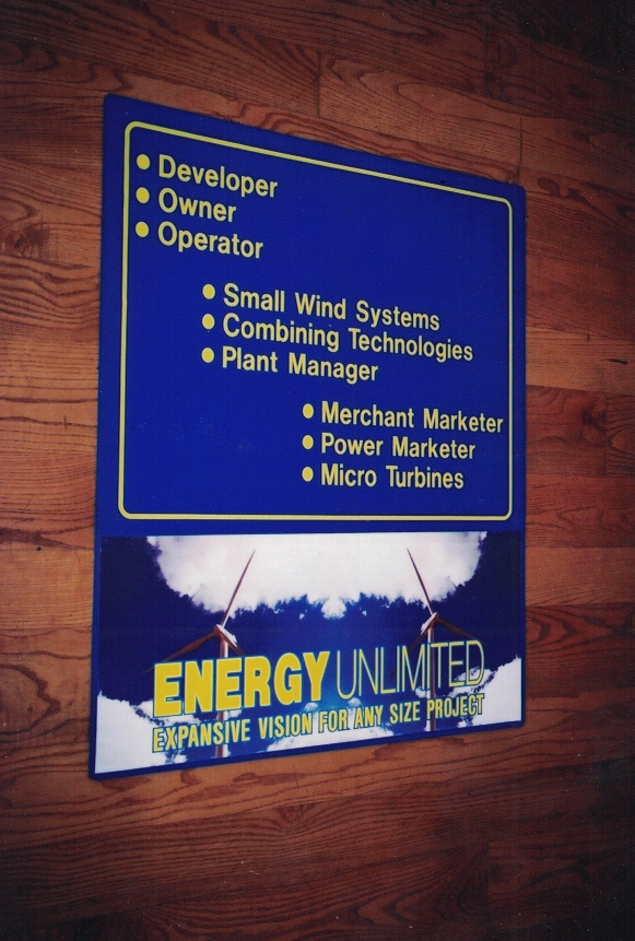 Energy Unlimited trade show Sign Studios