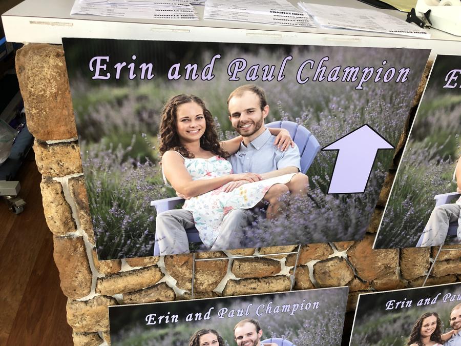 Erin Wedding Directional Signs