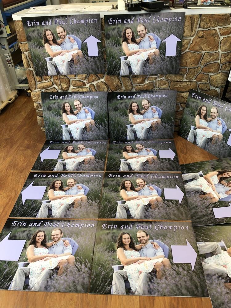 Erin Wedding signs Digital Print