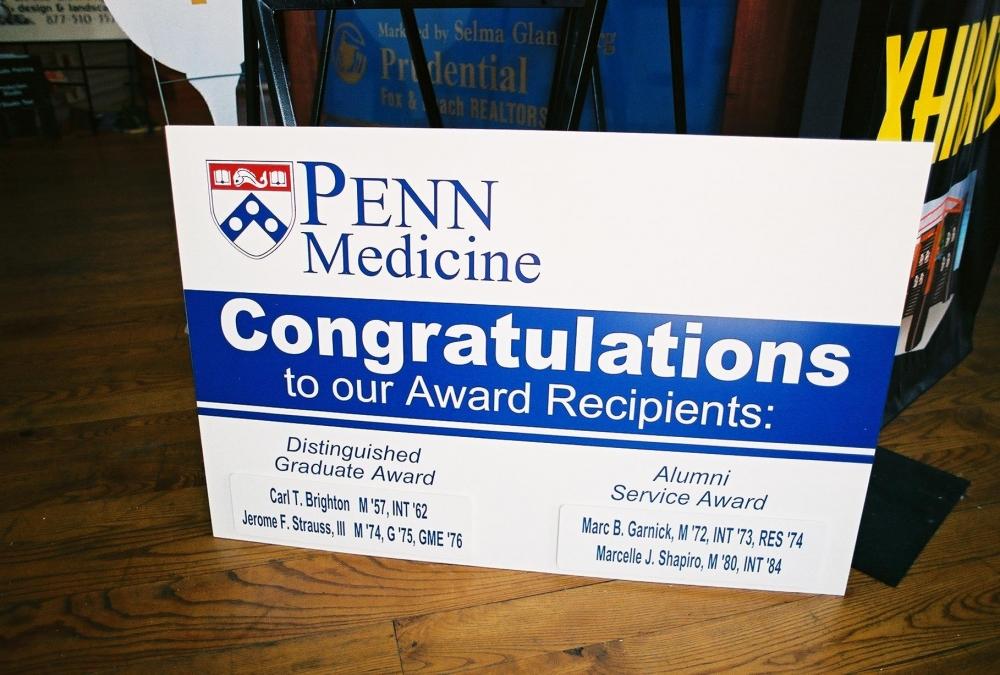 Penn Medicine Congratulations Corro Sign