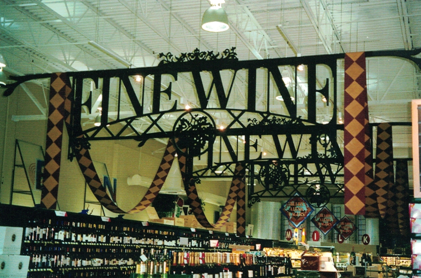 Fine wine grocery Sign Studios