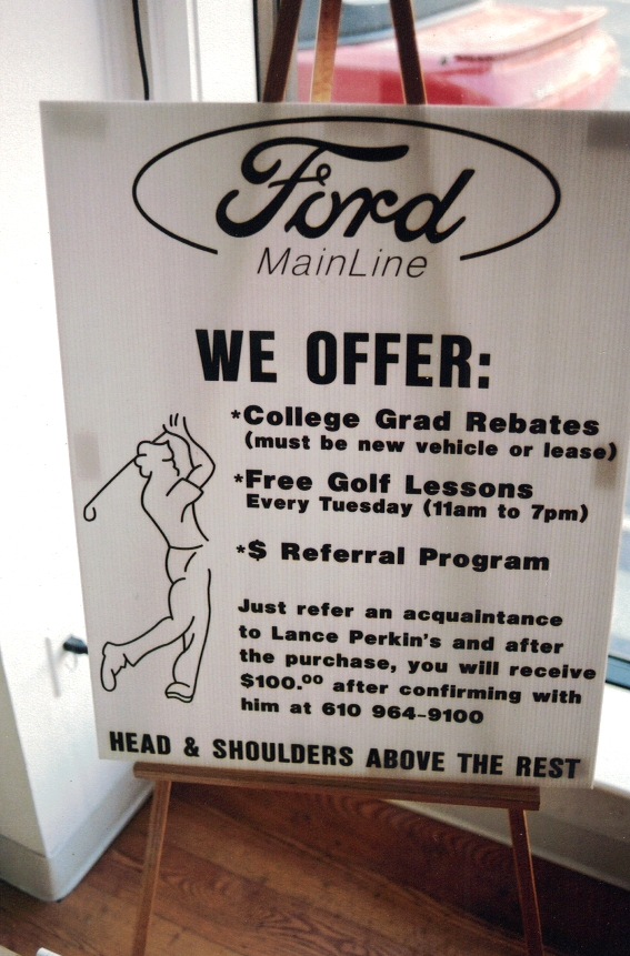 Ford golf auto Sign Studios