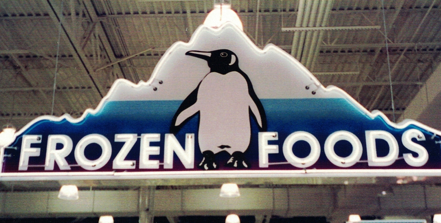 Custom Frozen Foods Hanging Illuminated Cabinet