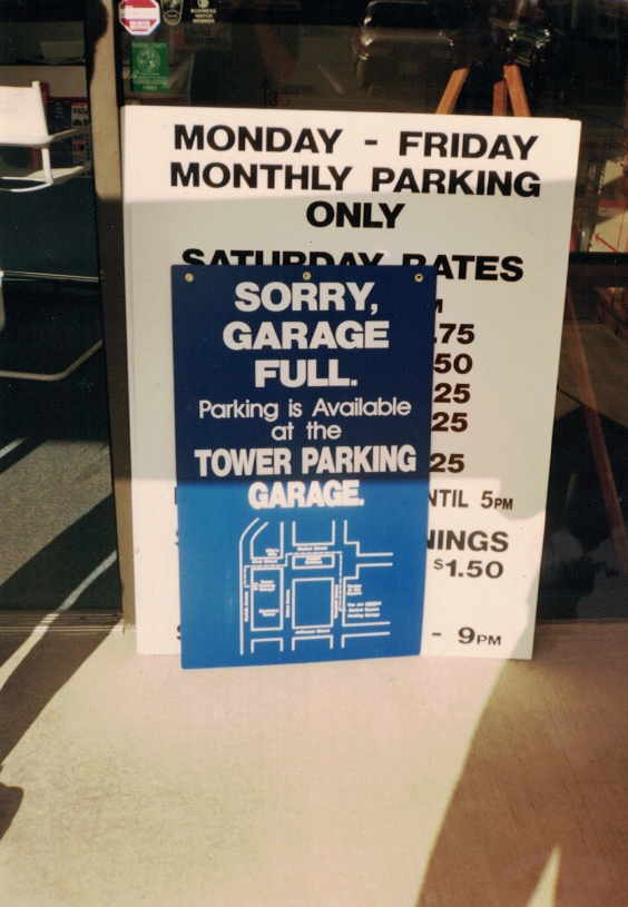 Garage Full parking Sign Studios