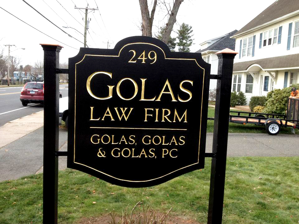 Golas Redwood Sign