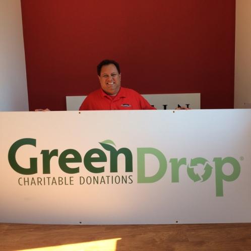 Green Drop corrugated Sign Studios