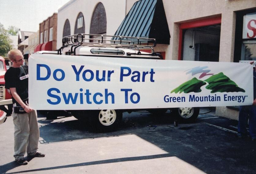 Green Mountain Energy Banner Sign Studios