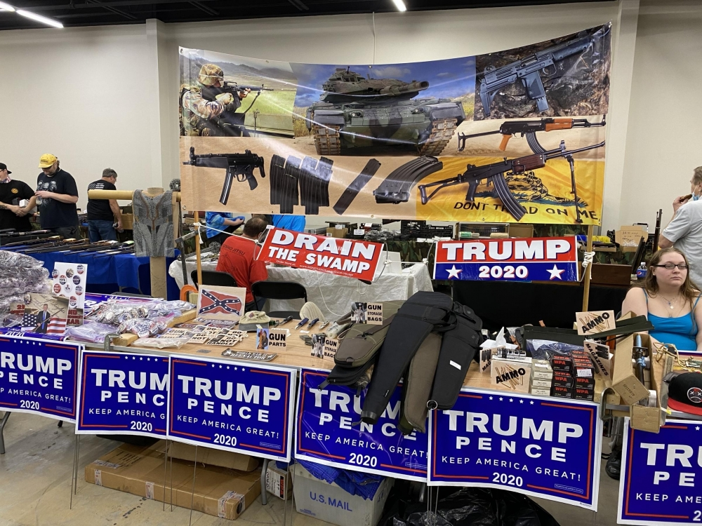Gun Show Table Closeup