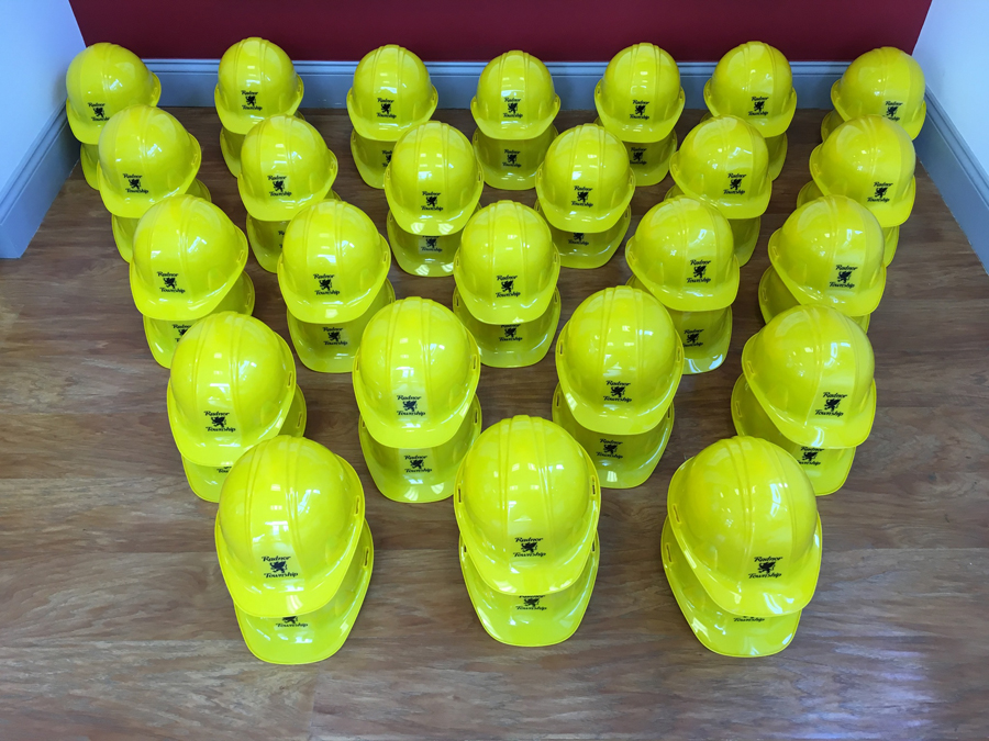 Hardhats - Green decal Sign Studios