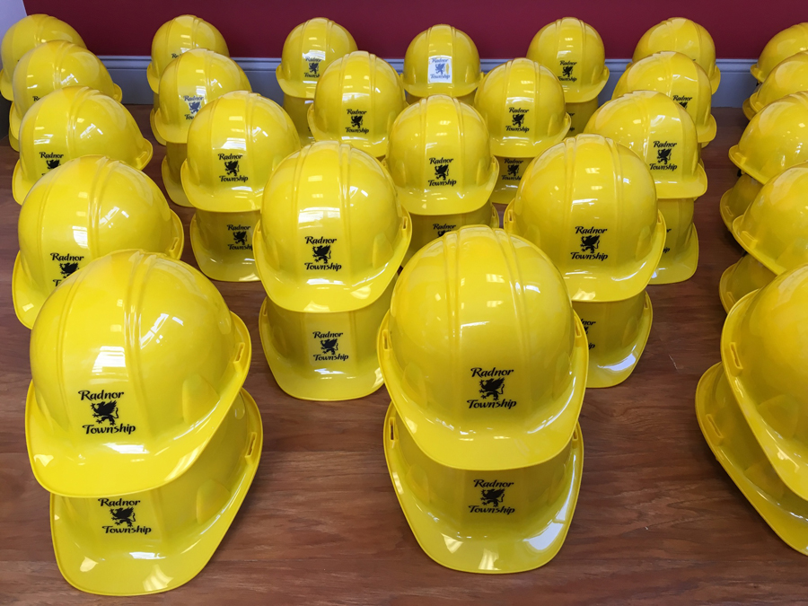 Hardhats - Yellow decal Sign Studios