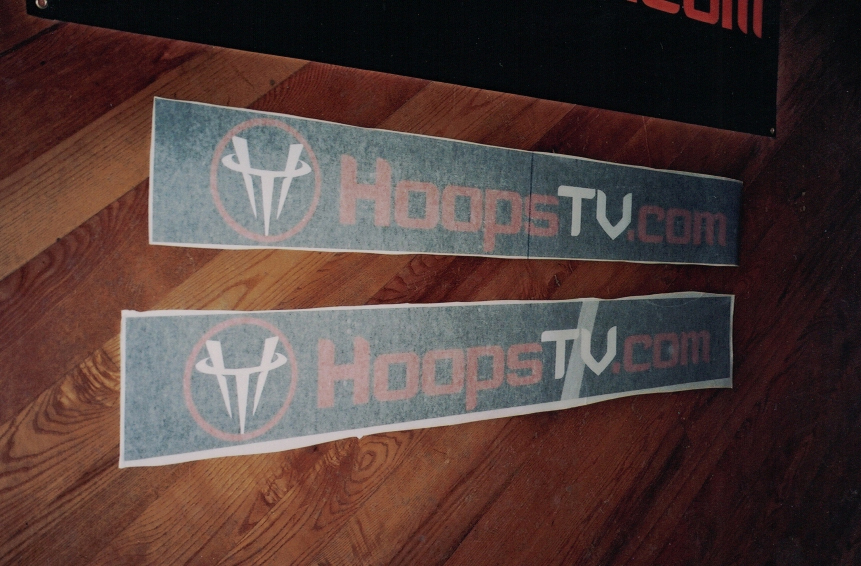 Hoops TV decals Sign Studios