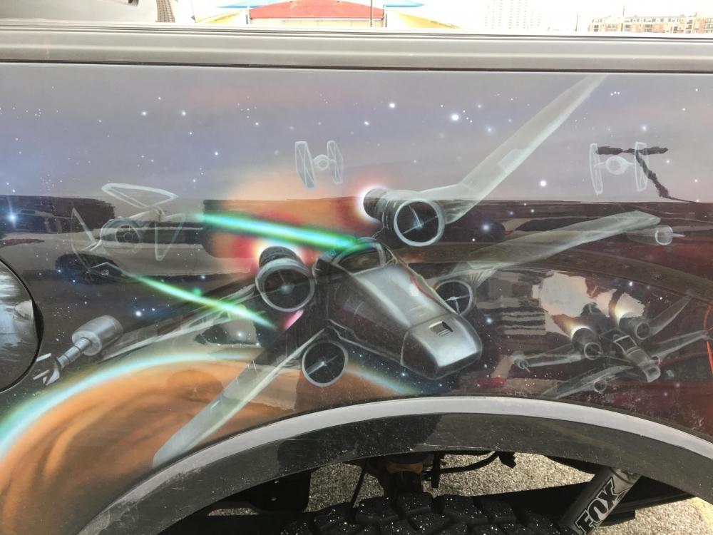 Star Wars Truck Drivers Side back closeup