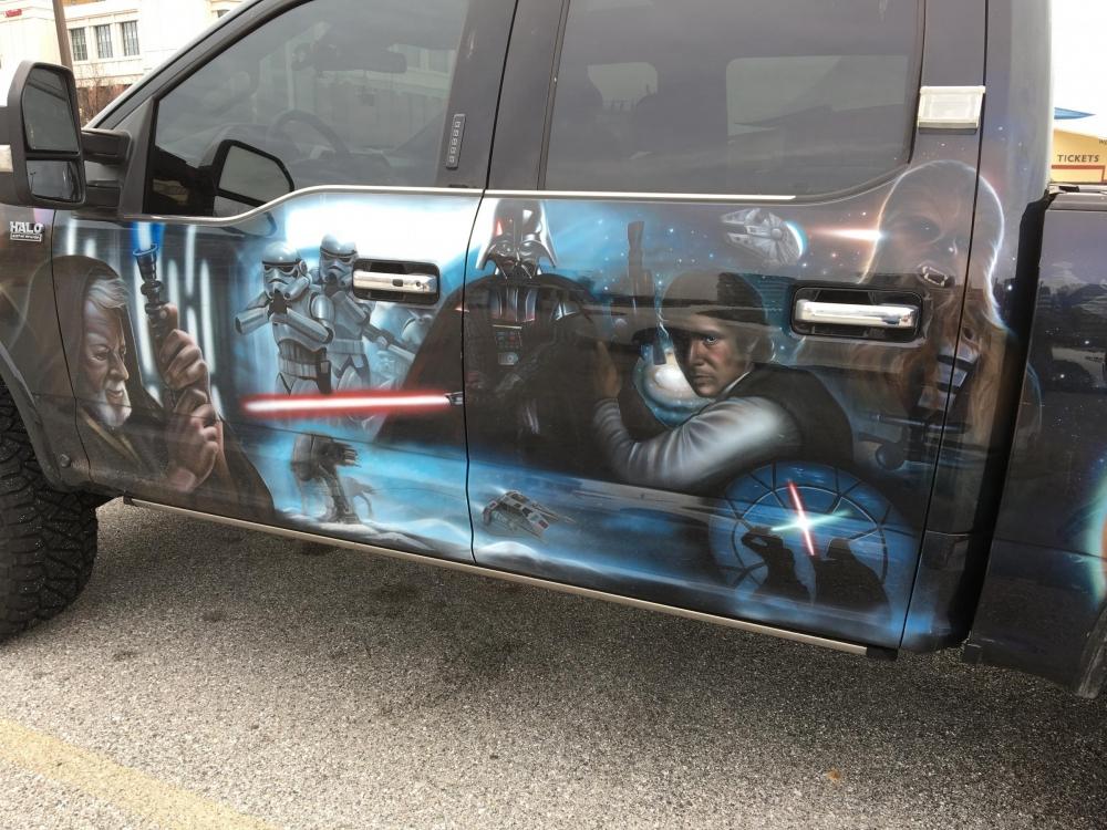 Star Wars Truck Drivers Side door