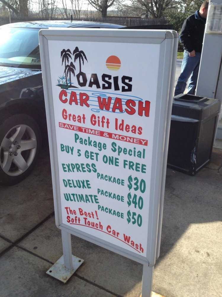 Oasis Car Wash Framed Sign