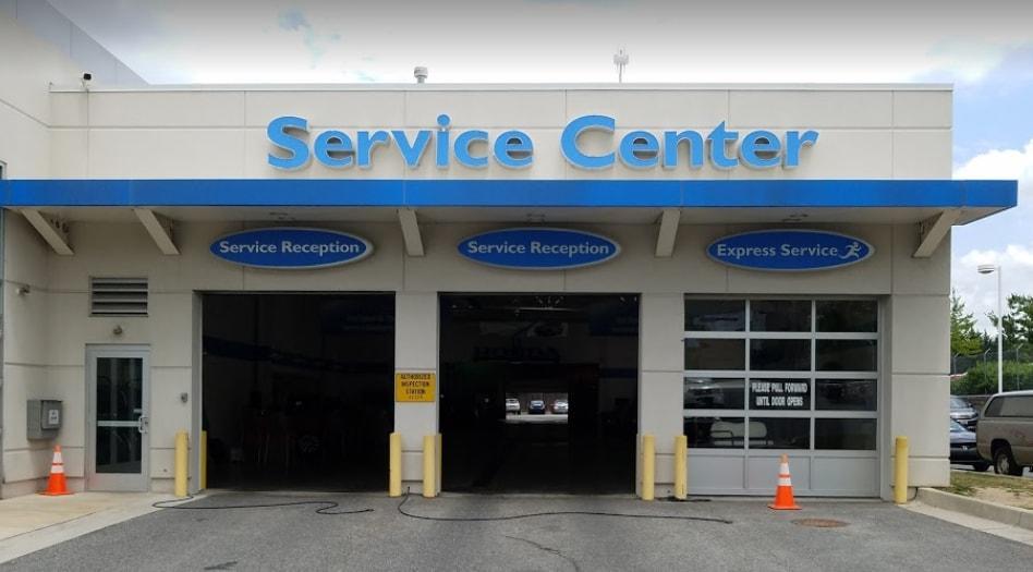 Honda Service Center closeup
