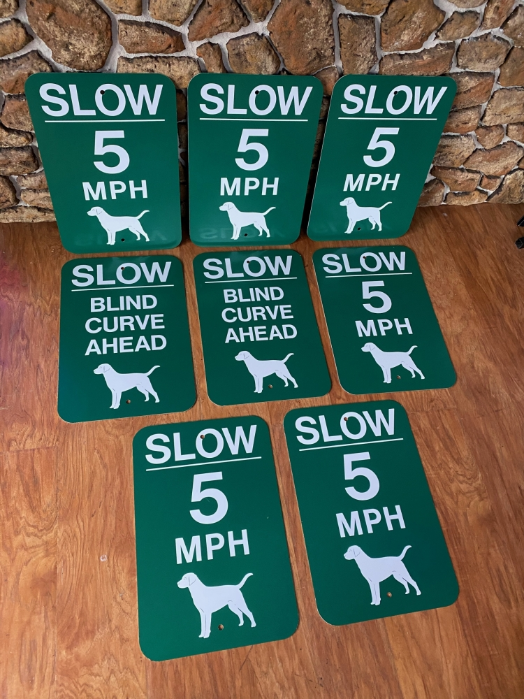 Slow Blind and Slow 5 MPH Aluminum Signs