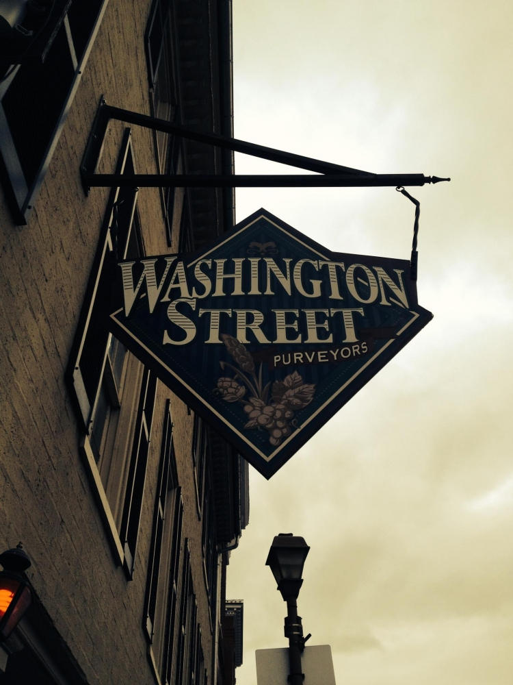 Washington Street Hanging Sign
