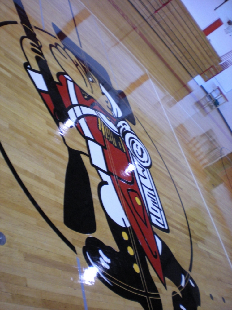 Archbishop Carroll Logo on Gym Floor