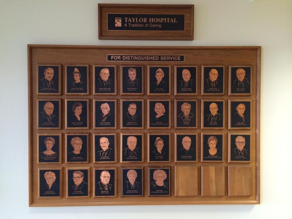 Taylor Hospital Plaques