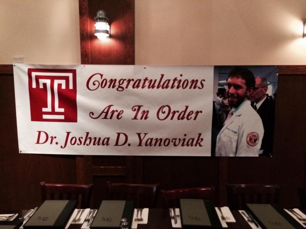 Congrats Graduate Banner Temple