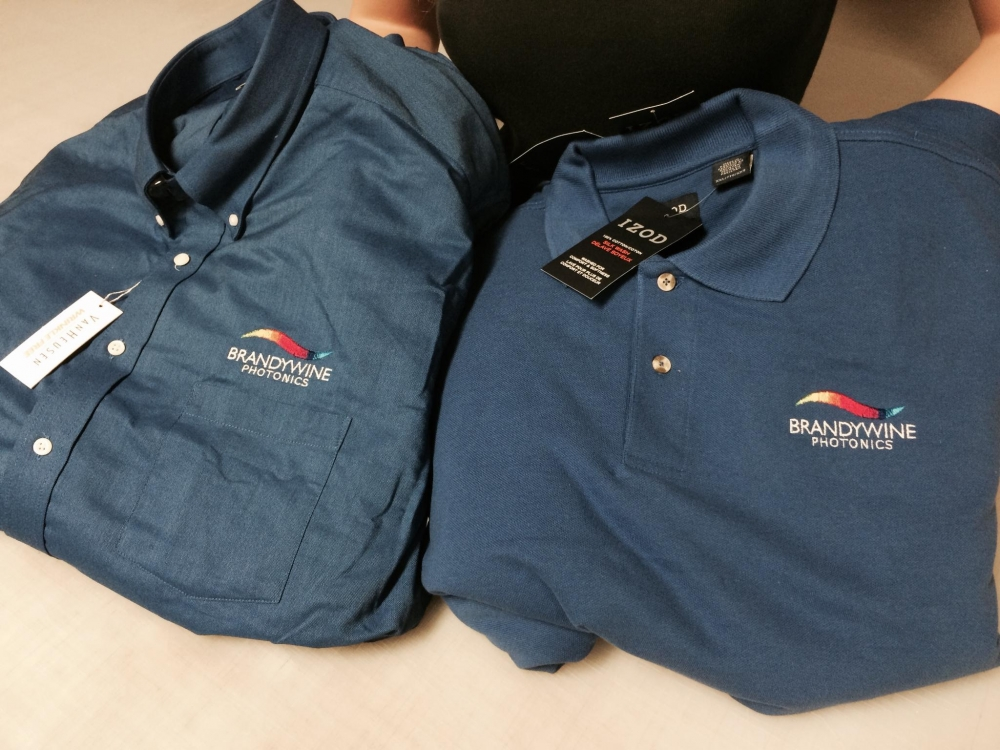 Brandywine Photonics Embroidered Shirts