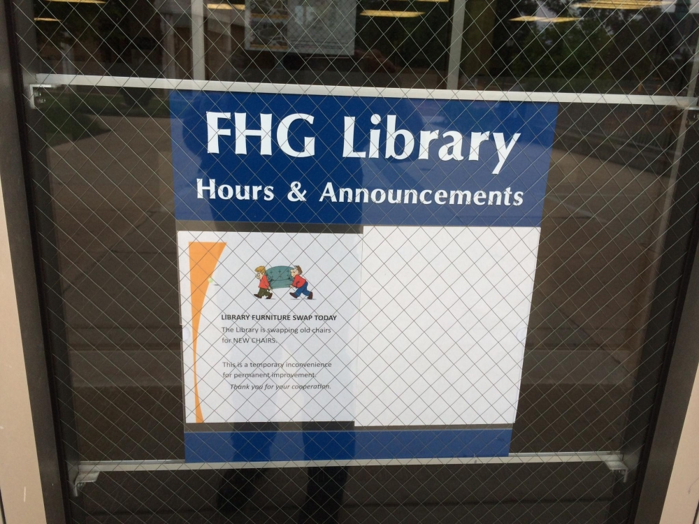 FHG Library Window Lettering