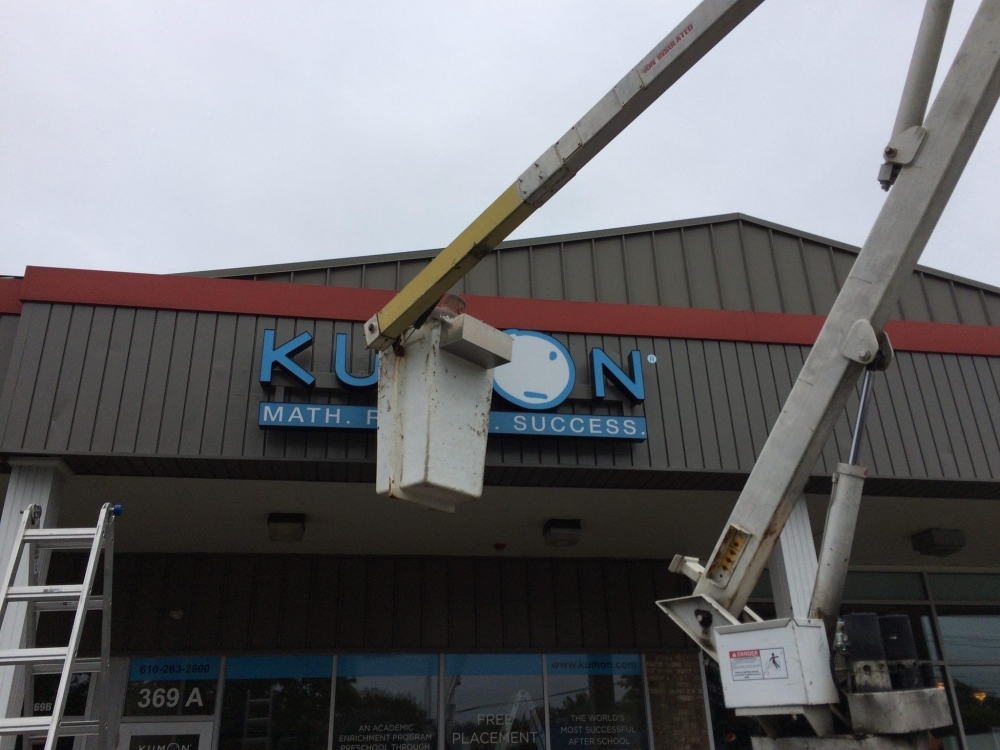 Kumon Install with Bucket Truck
