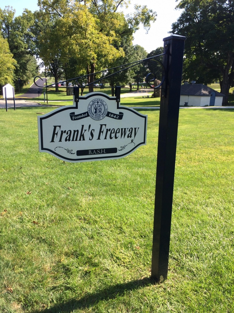 Malvern Prep Frank's Freeway Hanging Sign