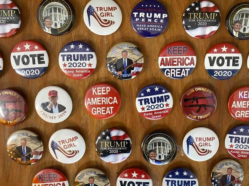 Collection of Trump Buttons Sign Studios