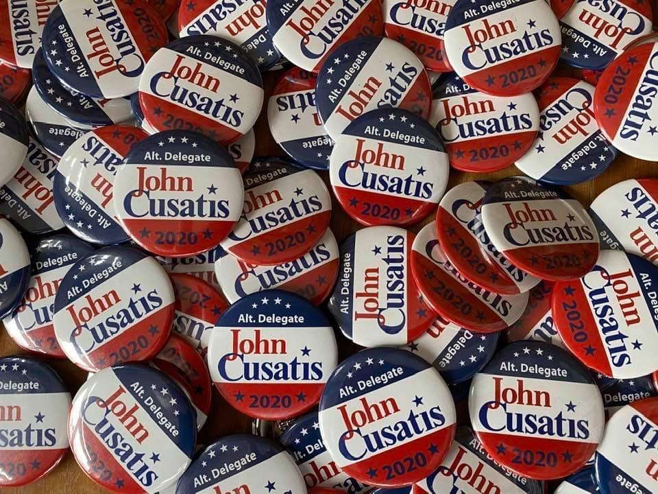 Collection of John Cusatis Buttons
