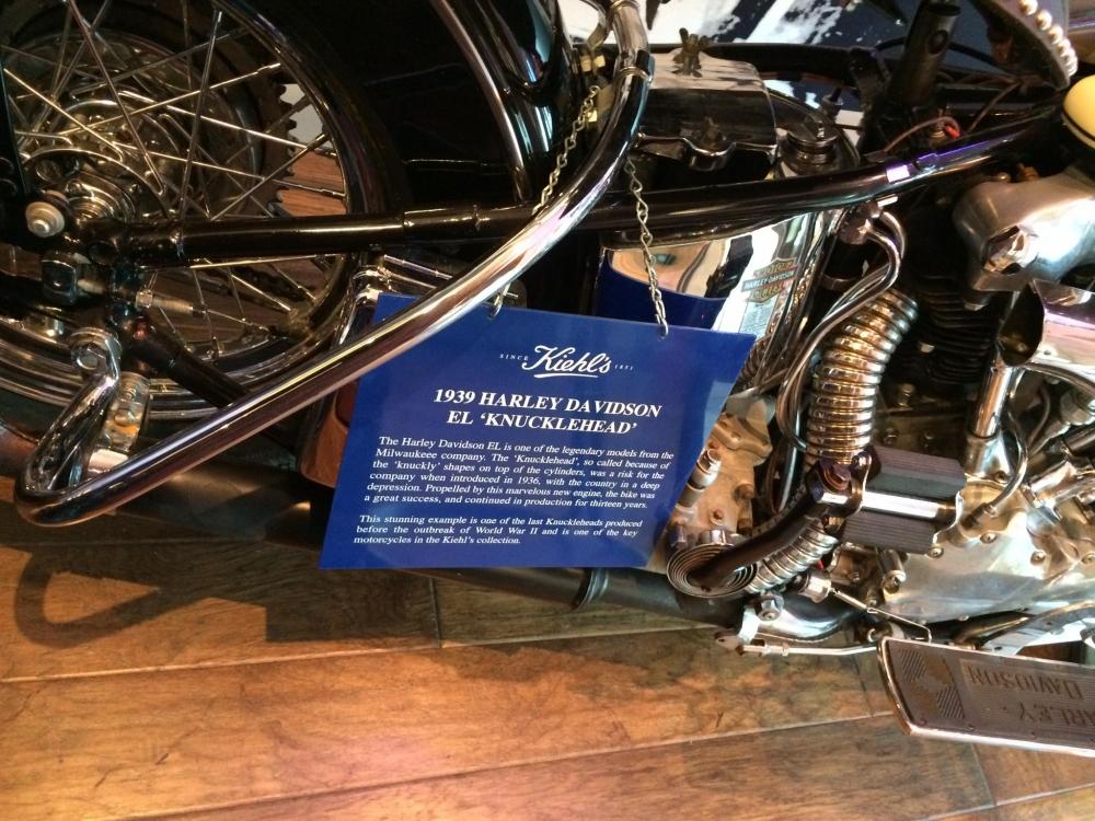 Kiehl's 1939 Harley Davidson Name Plate