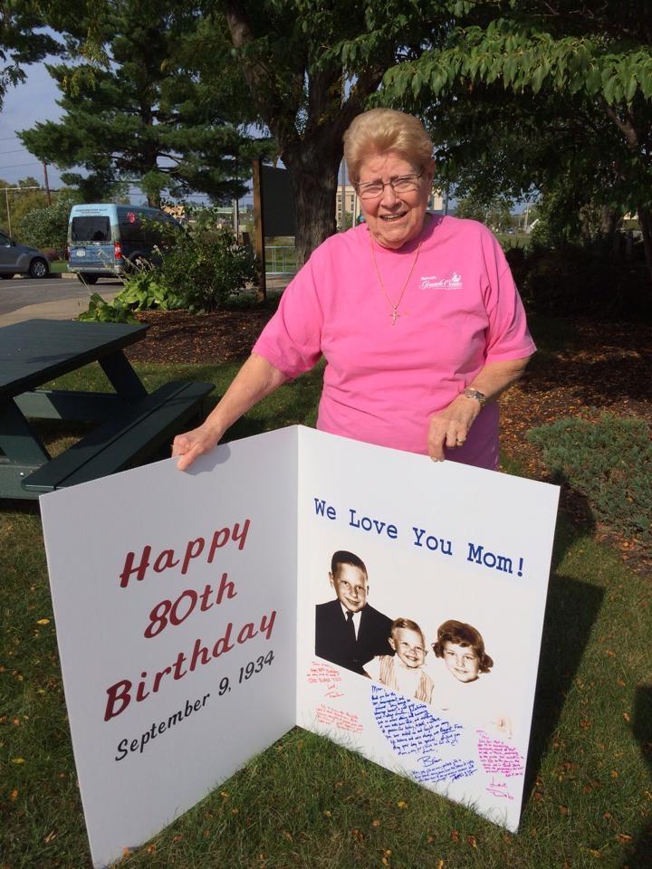 80th Birthday Card inside