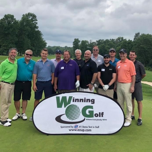 Winning Golf Feather Banner