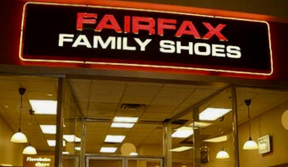 FairFax Family Shoes Sign