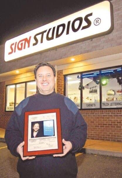 Sign Studios Owner and Award