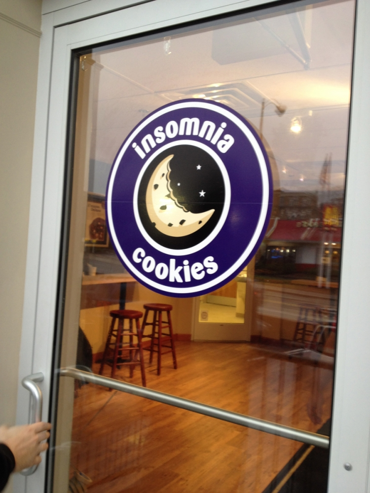Insomnia Cookies decal Sign Studios