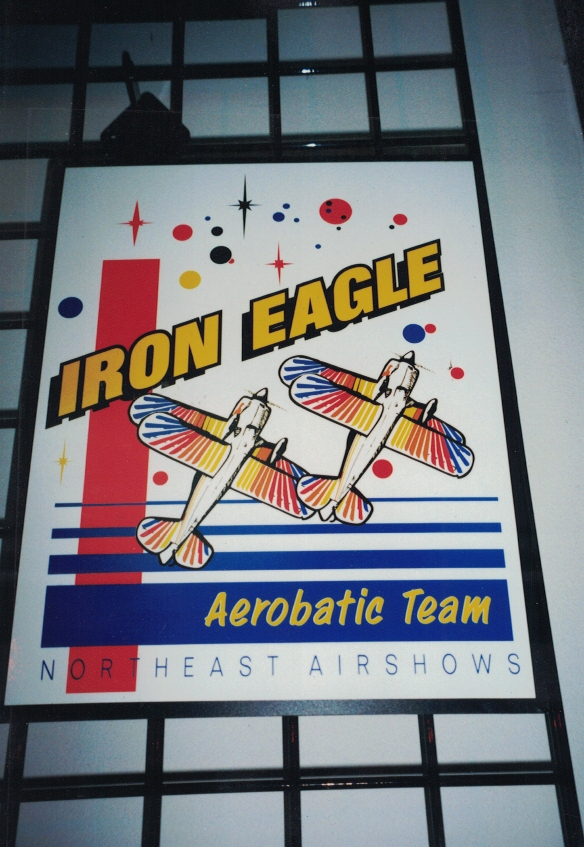 Iron Eagle Aerobatic Team Aluminum Sign