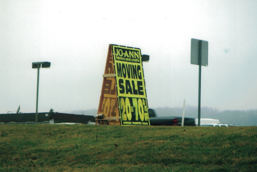 Joann Fabrics outside A-Frame Sign Studios