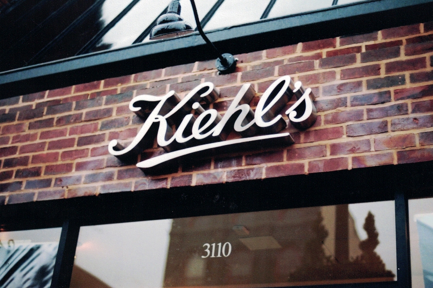 Kiehl's brick channel letter Sign Studios