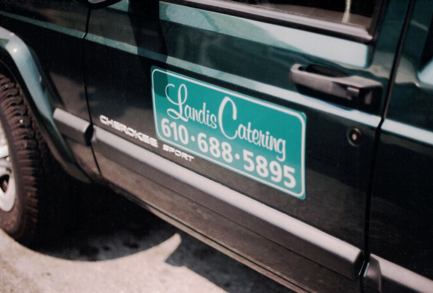 Landis Catering on vehicle