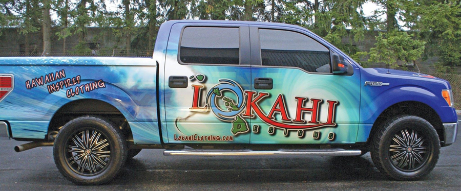 Lokahi wrap Sign Studios